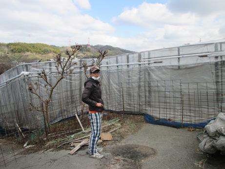 イノシシ対策の柵の写真